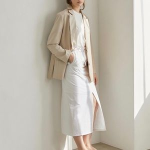Authentic💯%Leather Belted Jacket, Stylish & Chic